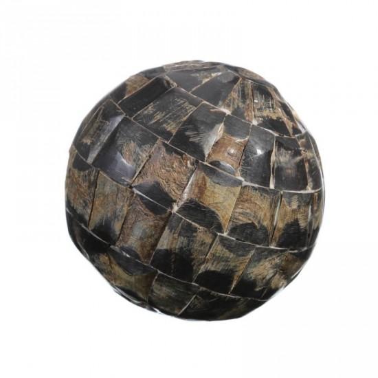 """Bola cuerno de búfalo auténtico """"osso"""" 13 x 13 cm"""