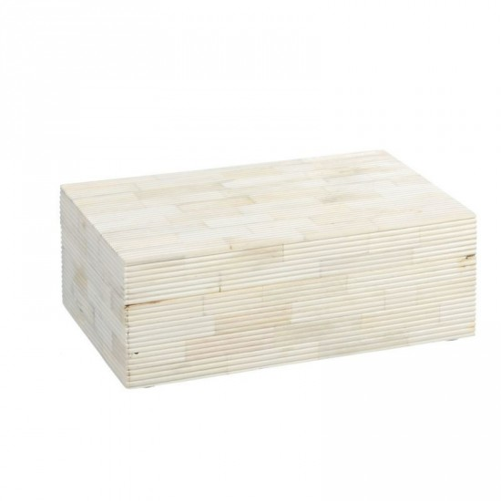 """Cajita hueso """"osso"""" crema 20 x 13 cm"""