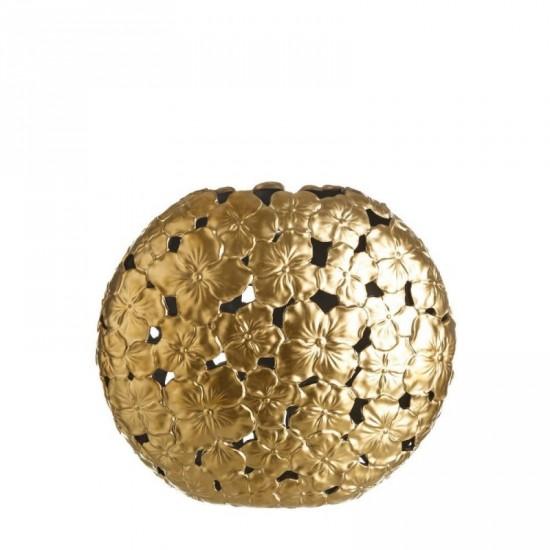"Jarrón cerámica ""goud"" oro 35 cm"