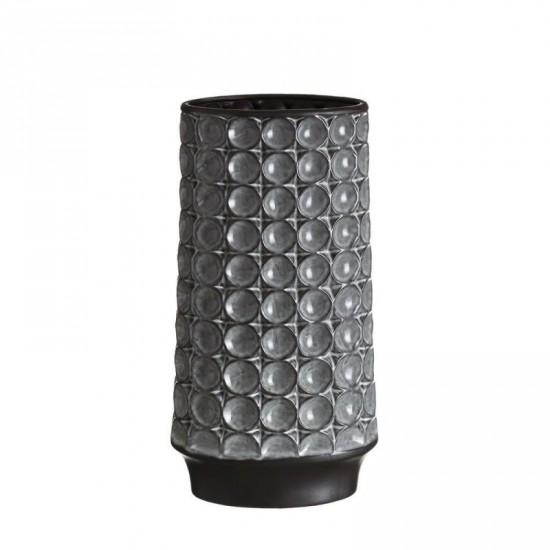 Jarrón de cerámica color gris 23 x 44 cm