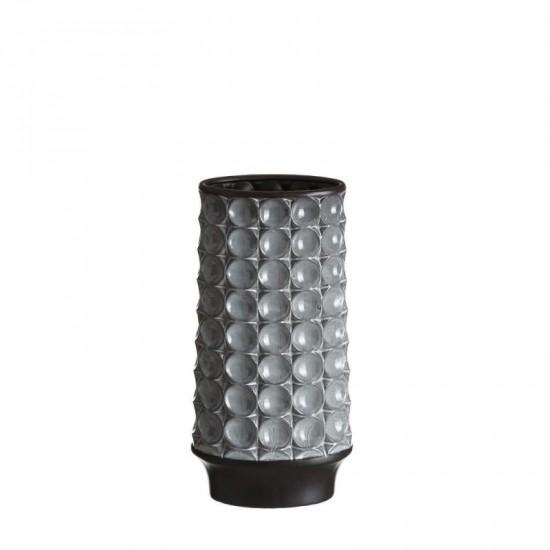 """Jarrón cerámica """"odin"""" gris 17 x 35 cm"""
