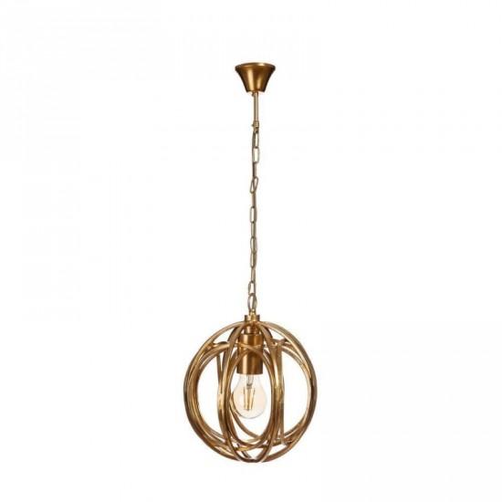 """Lámpara techo metal """"curve"""" oro 23 x 30 cm"""