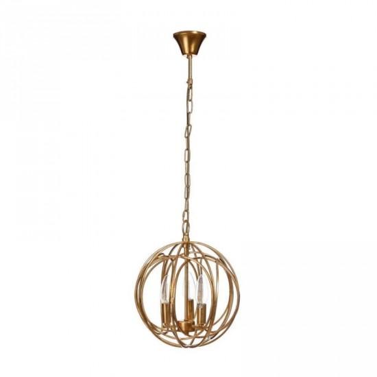"""Lámpara techo metal """"curve"""" oro 36 x 44 cm"""