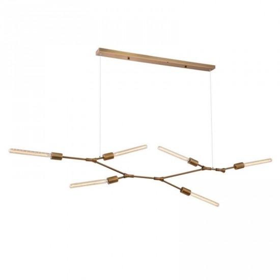 """Lámpara techo metal """"odda"""" bronce 120 x 40 cm"""