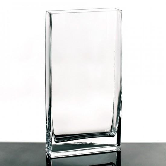 "Jarrón cristal ""vitro"" transparente 40 cm"