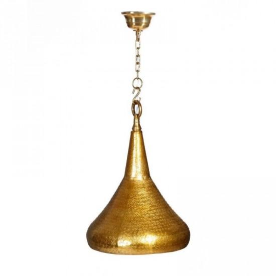 """Lámpara techo aluminio patinado """"arty"""" oro 33 x 36 cm"""