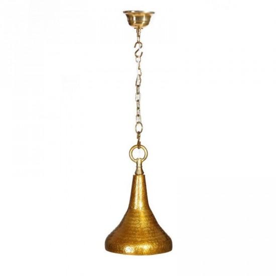 """Lámpara techo aluminio patinado """"arty"""" oro 22 x 24 cm"""
