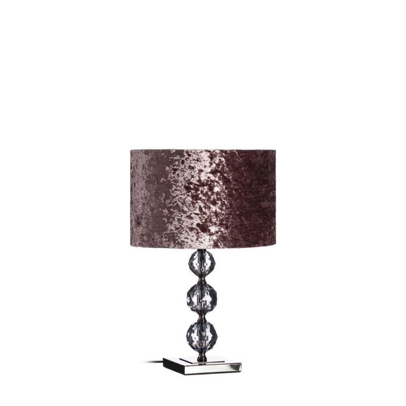 L mpara mesa en cristal color p rpura 51 cm ibele home for Lamparas de mesa de cristal