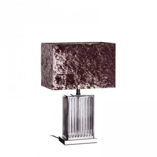 Lámpara mesa de cristal color púrpura 58 cm
