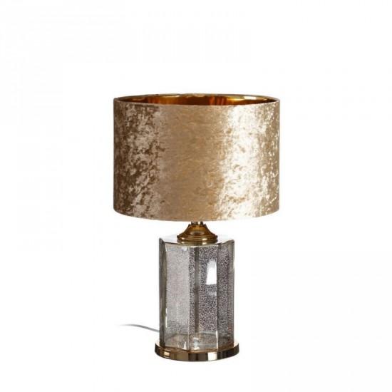 Lámpara mesa de cristal color oro 61 cm