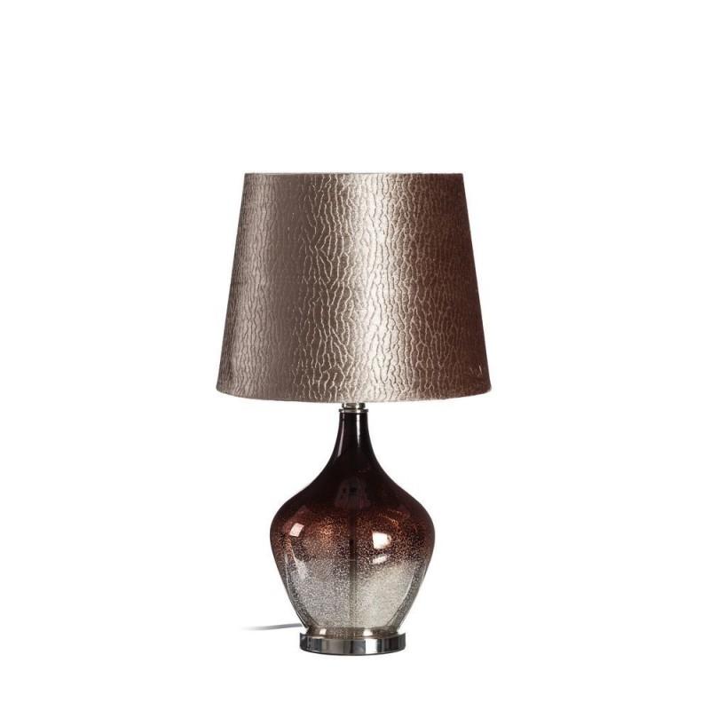 L mpara mesa de cristal color plata cobre 61 cm ibele home - Lamparas de cristal de colores ...