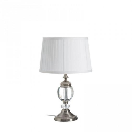 "Lámpara mesa cristal ""bono"" plata 50 cm"