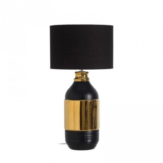 Lámpara mesa de cerámica color negro-oro 60 cm