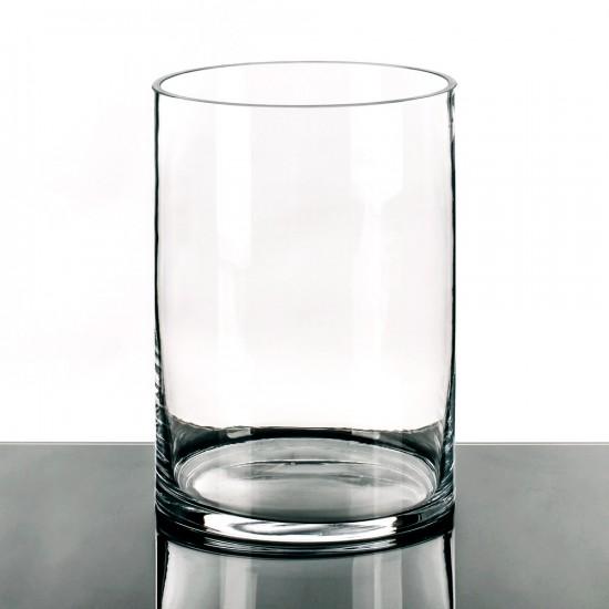 "Jarrón cristal ""vitro"" transparente 25 cm"