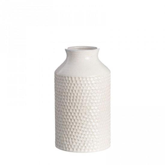 "Jarrón cerámica ""maddi"" crema 31 cm"