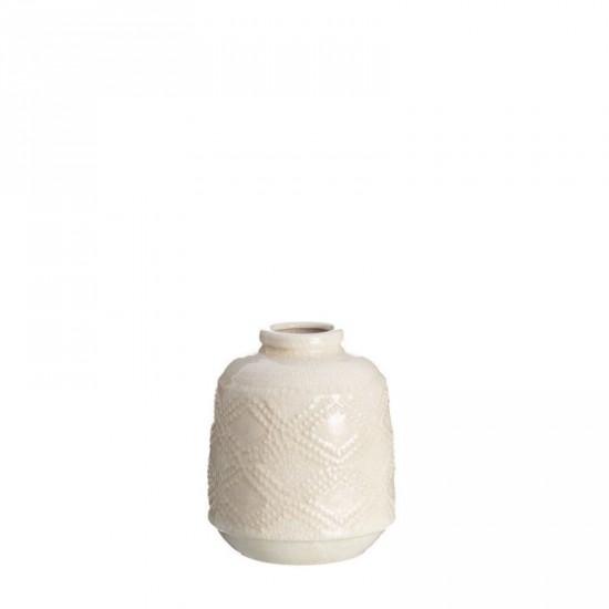 "Jarrón cerámica ""tappi"" crema 16 x 20 cm"