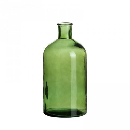 """Botella vidrio """"vetro"""" verde 13 x 28 cm"""