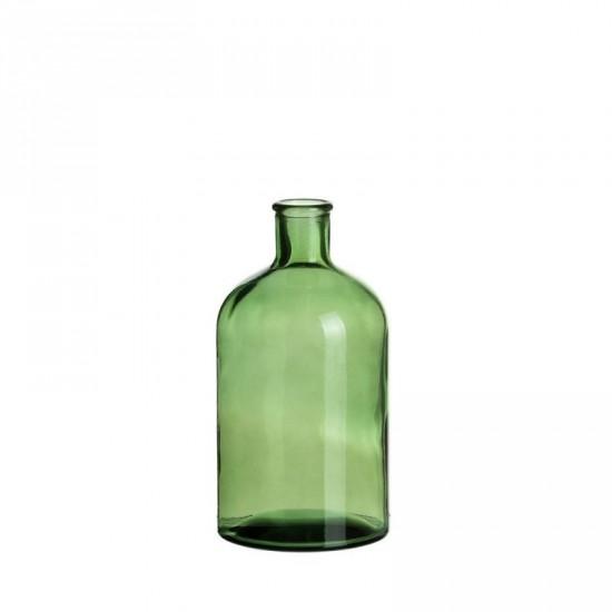 """Botella vidrio """"vetro"""" verde 11 x 22 cm"""
