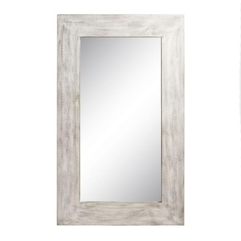 Espejo madera osiri blanco decap 60 x 102 cm ibele home for Espejo grande blanco