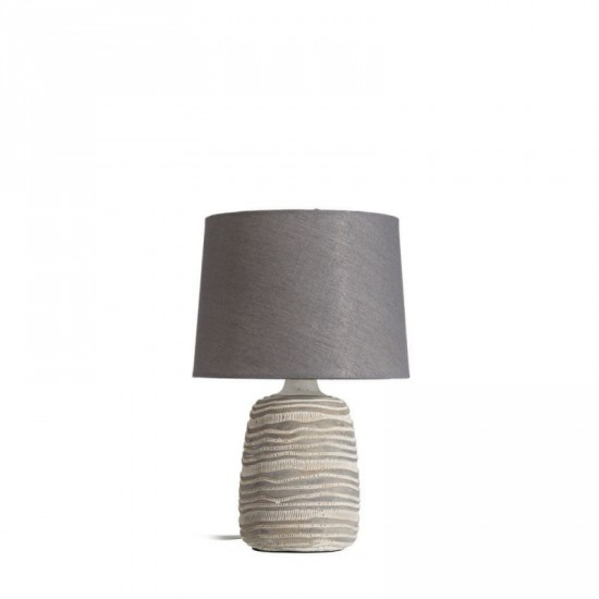 Lámpara mesa cerámica color gris-blanco 34 cm