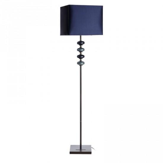 Lámpara de pie de cristal en color azul 160 cm
