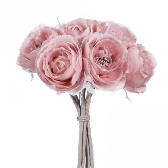 Ramo flores rosas color rosa 32 cm