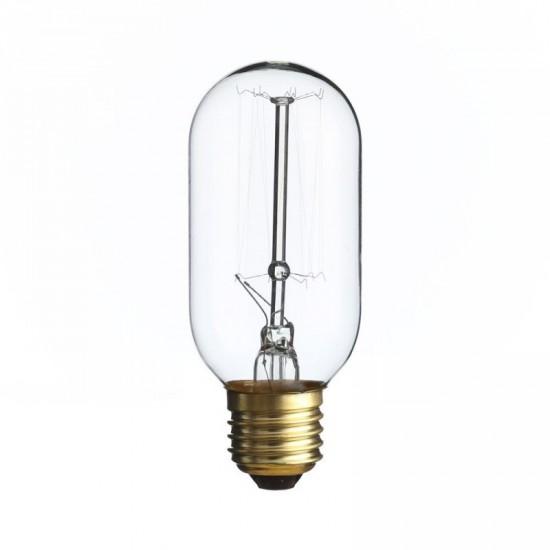 """Bombilla filamento """"Edison"""" transparente 4.50 x 11.30 cm E27 vertical"""