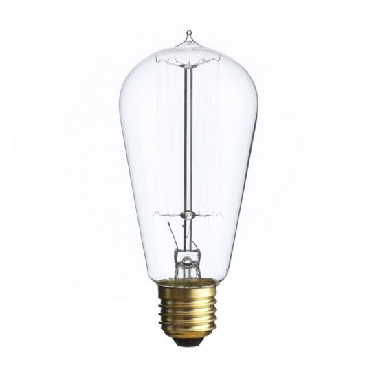 Bombilla filamento estilo Edison transparente 5.80 x 13.10 cm