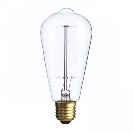 """Bombilla filamento """"Edison"""" transparente 6.40 x 14.50 cm E27"""