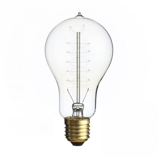 Bombilla filamento estilo Edison transparente 6.80 x 13.80 cm
