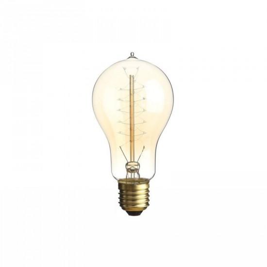 Bombilla filamento estilo Edison color ámbar 6.80 x 13.80 cm