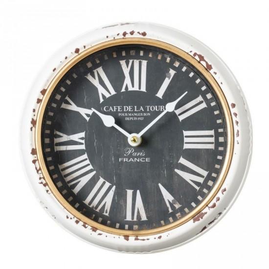 Reloj de hierro color negro y blanco 24 x 24 cm