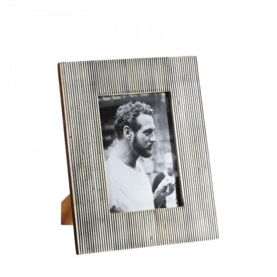 Portafotos 13x18 de hueso color gris estilo étnico