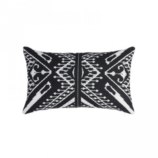 "Cojín ""elissa"" blanco-negro 50 x 30 cm"