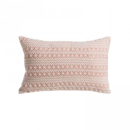 """Cojín """"mild"""" blanco-rosa 50 x 30 cm"""