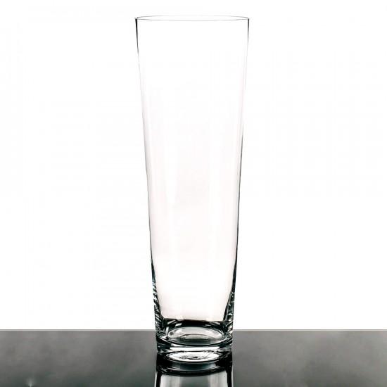 "Jarrón cristal ""vitro"" transparente 50 cm"
