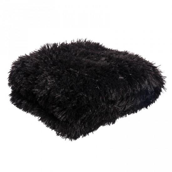 """Manta """"delizia"""" color negro 130 x 170 cm"""