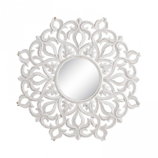"Talla espejo ""mocca"" blanco rozado 90 x 90 cm"