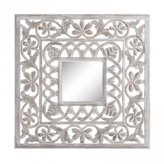 "Talla espejo ""lailah"" blanco rozado 90 x 90 cm"