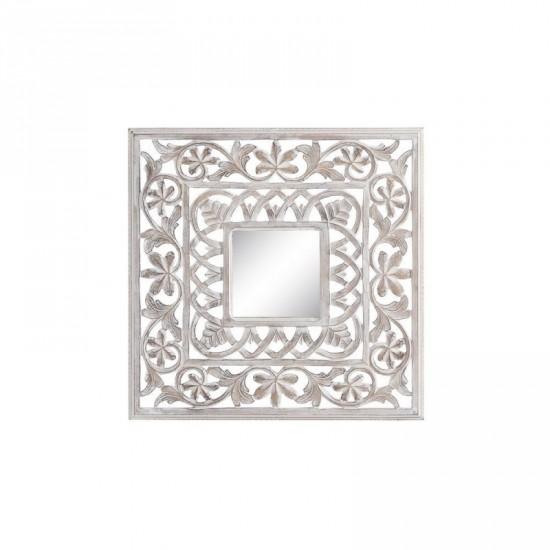 "Talla espejo ""lailah"" blanco rozado 60 x 60 cm"