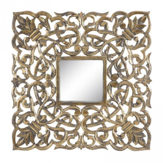 """Talla espejo """"lailah"""" oro envejecido 90 x 90 cm"""