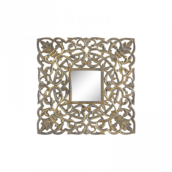 """Talla espejo """"lailah"""" oro envejecido 60 x 60 cm"""