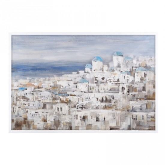 Pintura a mano paisaje blanco 120 x 80 cm