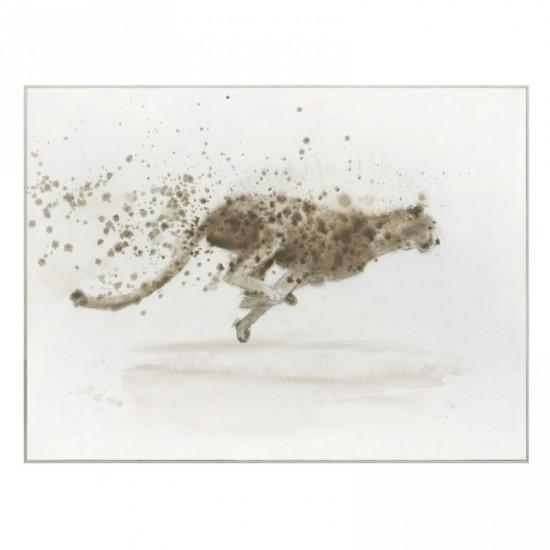 Lienzo con marco guepardo 100 x 80 cm