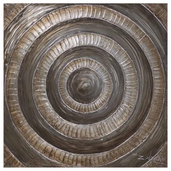 Pintura ascenso barro-oro sobre lienzo 100 x 100 cm