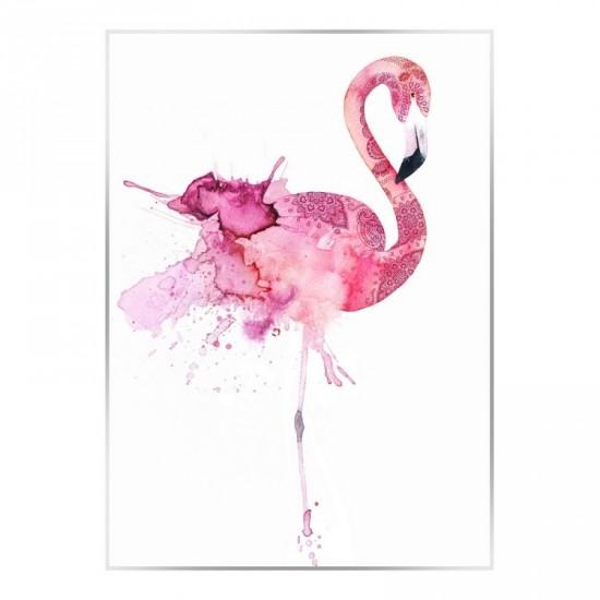Cuadro con marco flamenco 100 x 140 cm