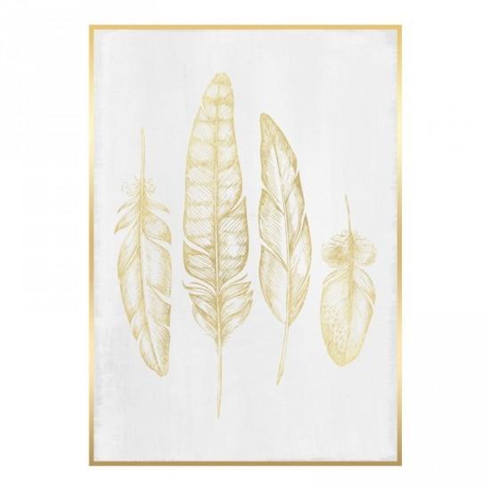 Fotolienzo con marco oro 65 x 93 cm