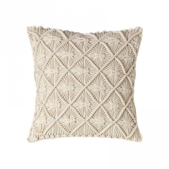 "Cojín crochet ""milano"" beige 45 x 45 cm"