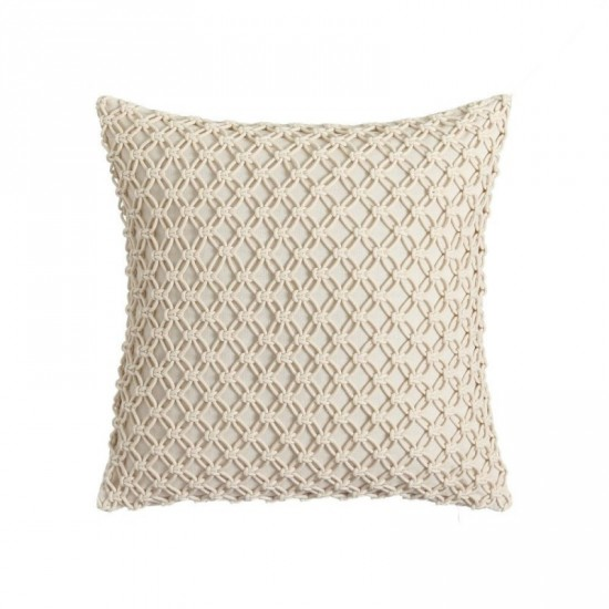 "Cojín crochet ""venezia"" beige 45 x 45 cm"