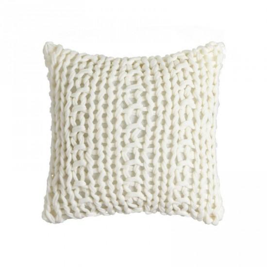 "Cojín crochet ""firenze"" blanco 45 x 45 cm"